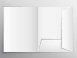 папка А4 с карманом
